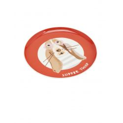 Joules Kitchen Porcelain Side Plate Printed Orange Dog