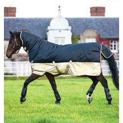 Horseware Mio All In One Turnout Rug 350g Navy Tan