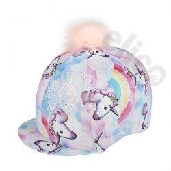 Elico Pastel Unicorn Lycra Hat Cover And Pom Pom