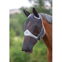 Shires Fine Mesh Fly Mask With Ears And Nose Black