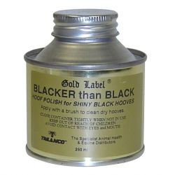 Gold Label Blacker than Black Hoof Varnish