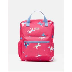Joules Girls Easton Printed Rucksack Pink Horses