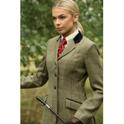 Equetech Launton Deluxe Tweed Riding Jacket Launton Green