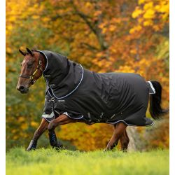 Horseware Amigo Bravo 12 Plus Medium Turnout 250g Black Strong Blue