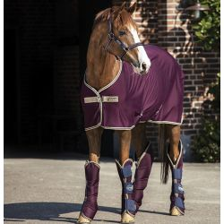 Horseware Amigo Jersey Cooler Fig Navy Tan