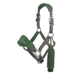LeMieux Vogue Fleece Headcollar And Leadrope Hunter Green