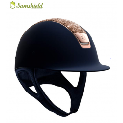 Samshield Shadowmatt Hat Rose Gold Crystal Fabric Top Rose Gold Trim