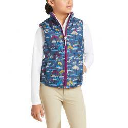 Ariat Emma Girls Reversible Insulated Vest Multi