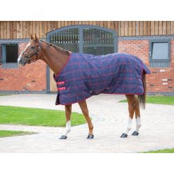 Shires Tempest Plus 200 Stable Rug Navy Red Check