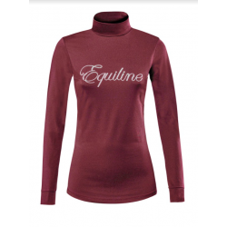 Equiline Maglia Ladies Turtleneck Top Burgundy