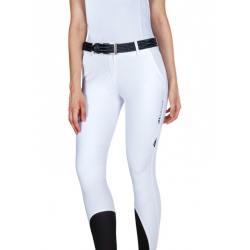 Equiline Team Logo Ladies Breeches Knee Grip White