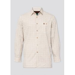 Alan Paine Bury Mens Fleece Lined Country Check Shirt Gazelle