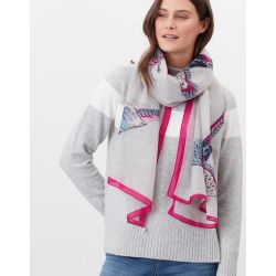 Joules Julianne Ladies Wool Scarf Silver Pheasants
