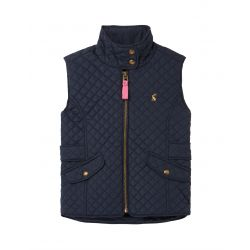 Joules Jilly Girls Quilted Gilet Navy