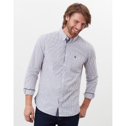 Joules Abbott Mens Classic Fit Shirt Brown Check
