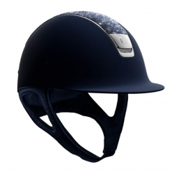 Samshield Shadowmatt Hat Bermuda Blue Crystal Top Black Chrome Trim