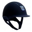 Samshield Shadowmatt Hat Crystal Blue Blazon Chrome Blue Trim