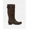 Joules Ladies Printed Wellies Brown Leopard Border