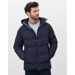 Joules Driftwood Wide Barrel Mens Padded Jacket Marine Navy