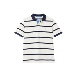Joules Filbert Striped Mens Polo Shirt Cream Stripe