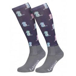 LeMieux Footsie Sock Seahorses Junior