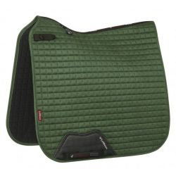 LeMieux ProSport Suede Dressage Square Hunter Green