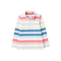 Joules Fairdale Printed Half Zip Girls Sweatshirt Multi Stripe