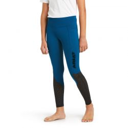 Ariat EOS Full Seat Kids Tights Blue Opal