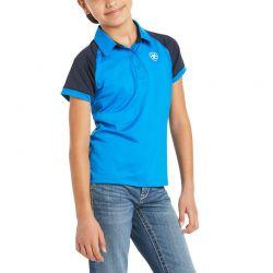 Ariat Team 3.0 Kids Polo Shirt Imperial Blue