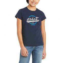Ariat Authentic Logo Kids T Shirt Navy