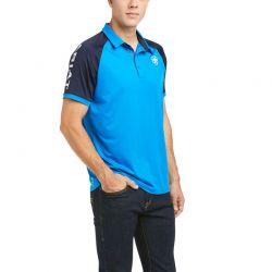 Ariat Team 3.0 Mens Polo Shirt Imperial Blue