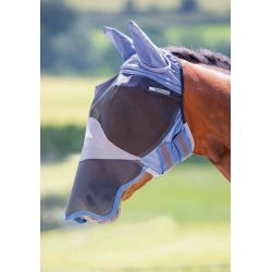 Shires Deluxe Fly Mask With Ears And Nose Royal Blue