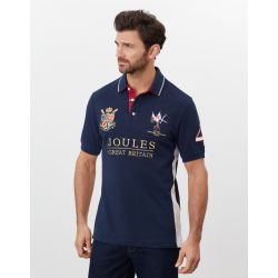 Joules Millford Embellished Mens Polo Shirt French Navy