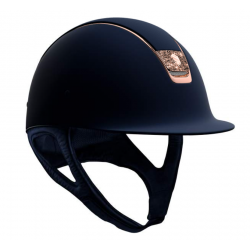 Samshield Shadowmatt Hat Rose Gold Crystal Fabric Blazon And Trim