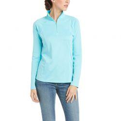 Ariat Sunstopper 2.0 Ladies Quarter Zip Baselayer Cool Blue