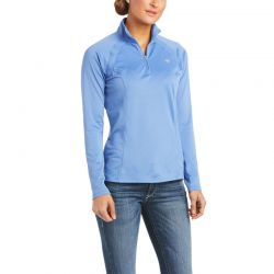Ariat Sunstopper 2.0 Ladies Quarter Zip Baselayer Blue Yonder