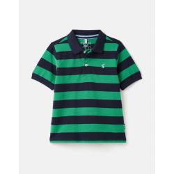 Joules Filbert Stripe Boys Polo Shirt Navy Green Stripe