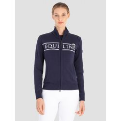 Equiline Cedora Ladies Full Zip Sweatshirt Blue