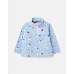 Joules Fairdale Printed Half Zip Girls Sweatshirt Spot Horse