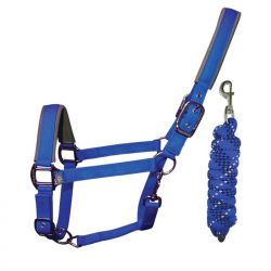 Woof Wear Head Collar And Lead Rope Electric Blue
