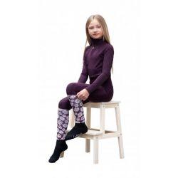 LeMieux Footsie Sock Daisies Junior