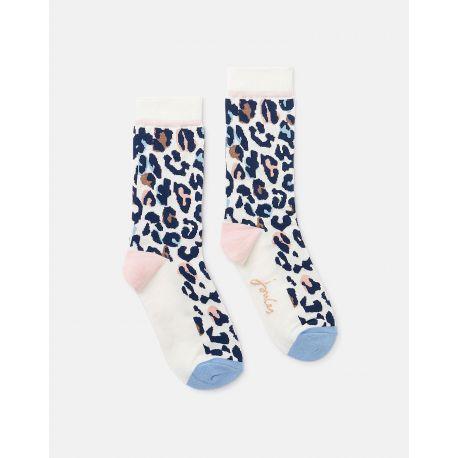 Joules Brill Bamboo Ladies Socks Animal Print