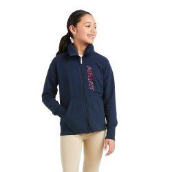 Ariat Team Logo Full Zip Kids Sweatshirt