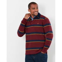 Joules Onside Mens Rugby Shirt Port Stripe