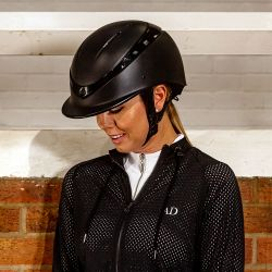 Charles Owen Luna Riding Helmet Black Gloss