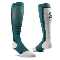 Ariat AriatTEK Slimline Performance Socks Eurasian Teal Sea Salt
