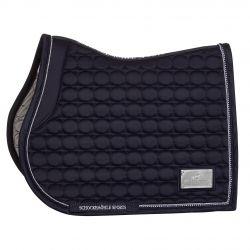 Schockemohle Sports Sanya SP GP Style Jumping Saddle Pad True Navy Logo