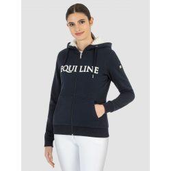 Equiline Celastec Ladies Full Zip Hoodie Blue