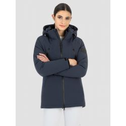 Equiline Corec Ladies Long Waterproof Jacket Blue