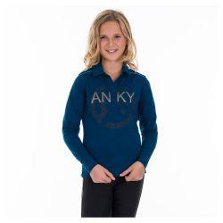 Anky Kids Printed Shield Long Sleeved Polo Shirt ATK162201